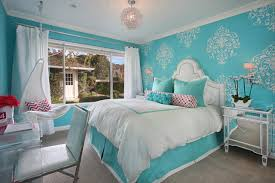 Tiffany Blue Girl's Room transitional-bedroom
