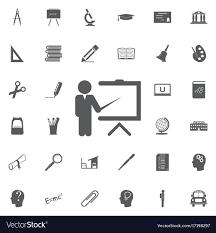 Symbol For Teacher Teacher Icon Trainer Symbol Modern Royalty Free Vector Image