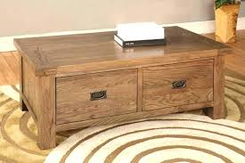 2 drawer coffee table oak coffee table with storage top rustic oak 2 drawer coffee table