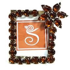 1 5x2 inch sankh topaz photo frames metal jeweled pf g319 only 8