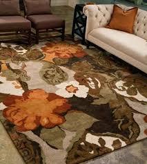 orange wool rug rugs hand tufted fl pattern wool art silk brown orange area rug orange orange wool rug