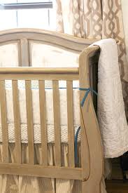 vintage rustic country nursery crib is painted in annie sloan chalk paint french linen