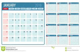 planner page template vector monthly calendar template 2018 year stock vector