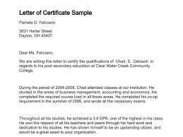 Letter Of Certificate With Regard To Letter Of Certification Of