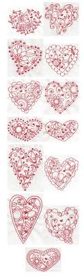 Redwork Machine Embroidery Designs Free Whimsical Hearts Redwork Embroidery Designs Swedish Fun