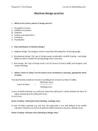 Factor Of Safety In Machine Design Machine Design Docshare Tips