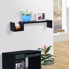 High Quality Floating Shelves Adorable Finether Modern Bookshelf S Shaped Floating Wall Mount Shelf