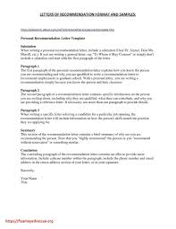 Sample Of Personal Letter Of Recommendation 25 Personal Letter Of Recommendation Template Paulclymer