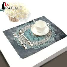 table place mats mandalas pattern fashion table for table set cotton linen home accessories kitchen pad