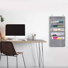 Chair Storage Pocket Chart 5 Pocket Compact Storage Pocket Chart Hanging Wall File