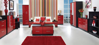 Red room with black furniture. Bedroom Color Scheme Black Bedroom ...