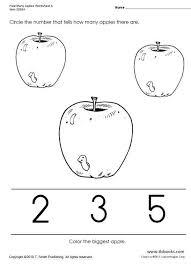 number worksheets   worksheets kindergarten and apples