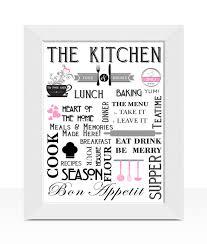 stylish kitchen diner wall art print