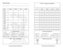 Workout Log Sheets Gorgeous Body For Life Workout Sheets Exercise And Nutrition Log Male Print
