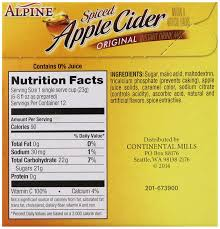 amazon alpine ed apple cider original instant drink mix 12 count 81 ounce cups total of 9 72 oz grocery gourmet food