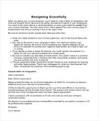 34 Sample Resignation Letter Templates | Sample Templates