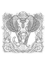 Elephant Mandala Coloring Pages For Adults With Elephant Mandala