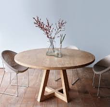 cross leg round dining table whitewashed teak 160 more