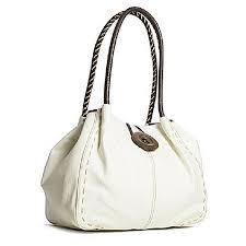 white cream leather handbag