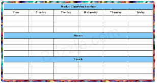 Class Timetable Template Amazing Printable Weekly Class Schedule Template Sped Pinterest Free