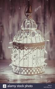 bird cage lighting. Christmas Light Decoration In A White Bird Cage. Cage Lighting