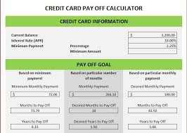 Calculator Credit Card Payment Credit Card Excel Template Credit Card Spreadsheet Template