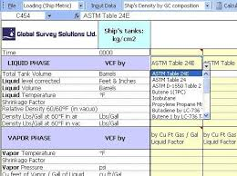 Petroleum Lpg Lng Chemicals Dry Cargo Software Table