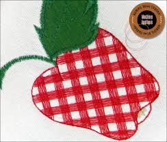 Machine Applique Designs Gingham Fruit Machine Applique Kitchen Towels Sew4home