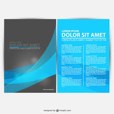 Templates For Brochures Free Download Blue And Black Brochure Template Vector Free Download