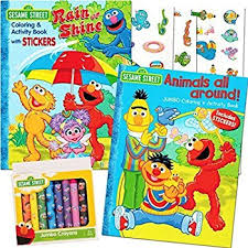12 Sets Of Sesame St Elmo Coloring Books And Crayon