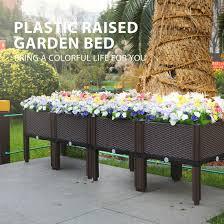 vh plastic raised garden bed planter