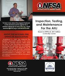 national fire sprinkler association illinois chapter training new fire prevention officer ii inspector ii certification scholarship