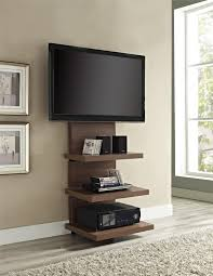 Cool Tv Stand Ideas tall wood wall mounted tv stand with shelves and mount for flat 2237 by uwakikaiketsu.us