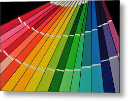 Full Color Chart Full Rainbow Of Paint Color Chart Fan Deck Metal Print