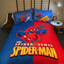 newest 100 cotton cartoon boys bedding set marvel spider man queen california king duvet cover bedspread bed linens sets queen california king bedding sets