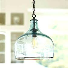 blue blown glass pendant lights awesome creative