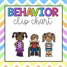 Behavior Clip Chart Display In Cursive And Print