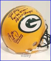 Brett Favre Bart Starr Aaron Rodgers Signed GB Packers Proline Helmet  FANATICS   Signed Sports Memorabilia