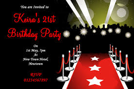 Vip Red Carpet Party Invitations