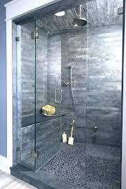 river rock shower floor flooring bathroom stone pebble tile how to install ideas insta