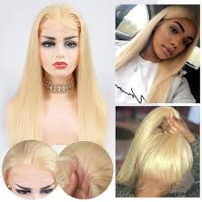 Pure <b>613</b> Blonde <b>Lace Front Wigs</b> With Baby Hair Free Part -Alipearl ...