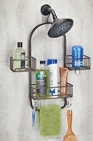 best hanging shower caddy with three adjule baskets
