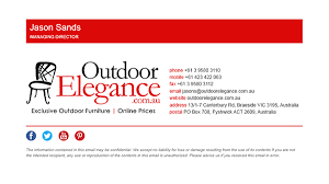 Email Signature Html Outdoor Elegance Html Email Signature On Behance