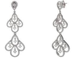 certified g set diamond chandelier earrings white gold twt small for men vera three stone