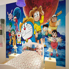 living room bedding kid s room tv setting wall 3d wallpaper doraemon water proof papel de parede 3d mural photo wall paper