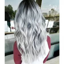 silver hair stylist according to gray hair highlights