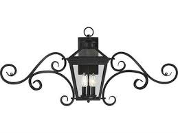 savoy house ellijay black three light 38 wide outdoor wall light