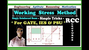 Working Stress Method Of Rcc Design Working Stress Method Singly Reinforced Beam Rcc Design Lec No 07 For Gate Ies Psu In Hindi