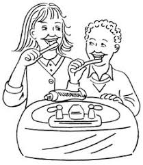 Small Picture teeth coloring pages brush your teeth coloring page Dental
