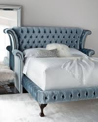 neiman marcus bedroom furniture. Carter Teal Queen Tufted Bed Neiman Marcus Bedroom Furniture R